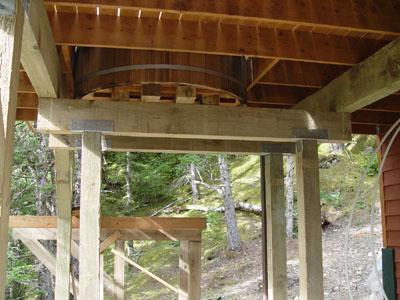 posts beams and more wood. Black Bedroom Furniture Sets. Home Design Ideas